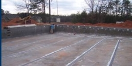 Construction of the Jr Olympic Pool