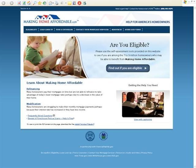 Making Home Affordable Website